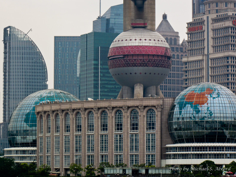 Shanghai ... notice how China is highlighted on the World Globe.