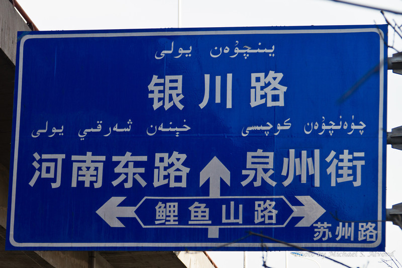 Now if you had any idea of driving in Urumqi, you had better learn Chinese. Also you would need ice water in your veins as they will drive on the wrong side of the street, road lines are ignored, and people walking are fair game.