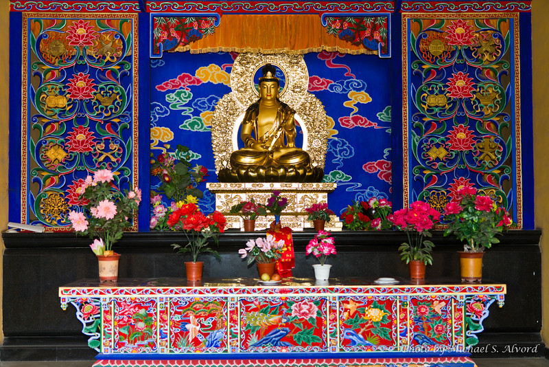 This is one of the smaller private shrines where people can make offerings.