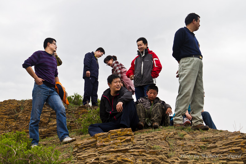 The group of us that made it to the top.