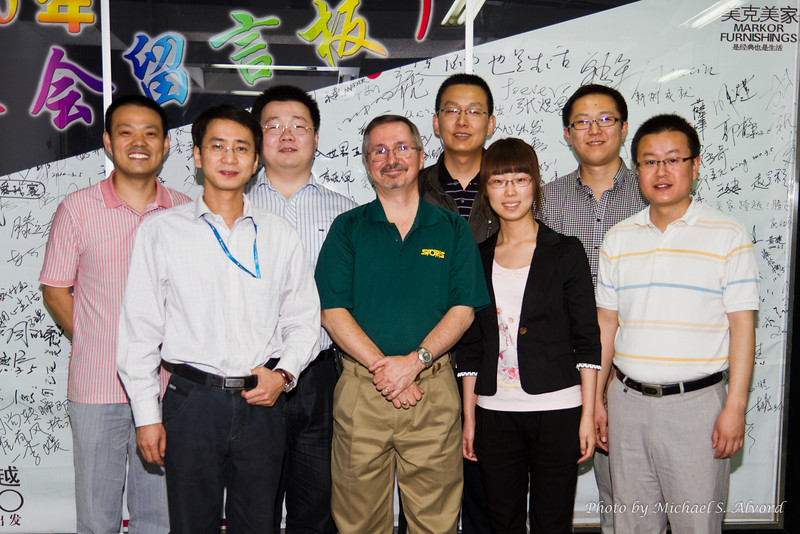 A closing picture of their IT people, my students and translators.