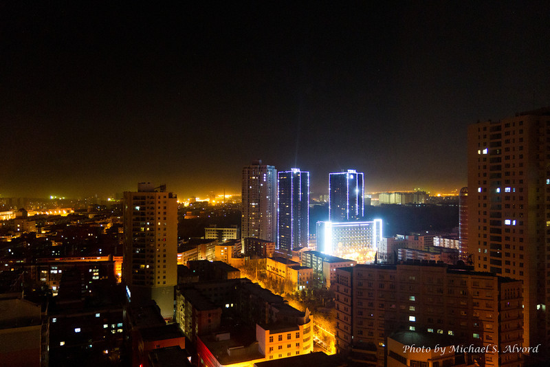 The 1st night in Urumqi. The view looking out of my 'hotel' room window.