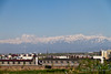The air was clear so it gave a nice view of the mountains surrounding Urumqi.