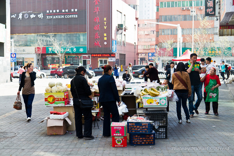 This is the food market / food street which is around the corner from the Markor's building. At night this is lined with food stalls.