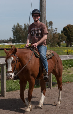 Cory on the horse.