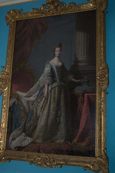 Governor's Palace at Colonial Williamsburg - portrait of Queen Charlotte