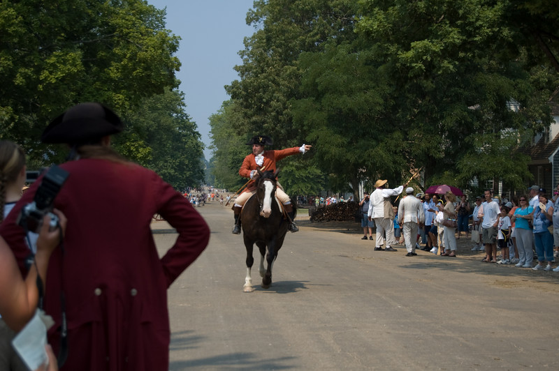 """""""Revolutionary City"""" re-enactment at Colonial Williamsburg"""