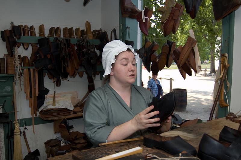 Shoemaker at Colonial Williamsburg