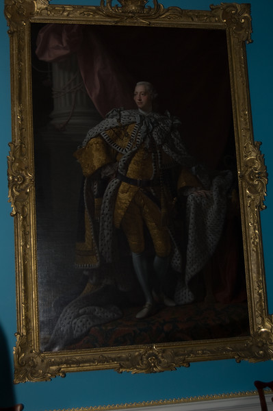 Peyton Randolph House at Colonial Williamsburg - portrait of King George