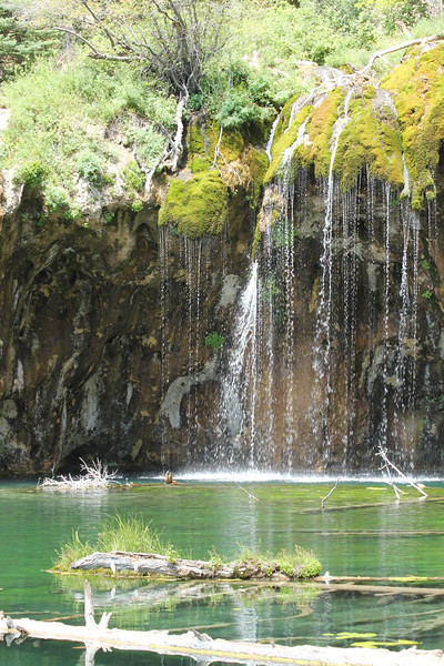 July 11, 2012 (Hanging Lake [at the lake] / Glenwood Springs, Garfield County, Colorado) -- Waterfalls scenery