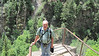 July 11, 2012 (Hanging Lake [at the top of the trail] / Glenwood Springs, Garfield County, Colorado) -- David commencing our descent
