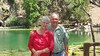 July 11, 2012 (Hanging Lake [at the lake] / Glenwood Springs, Garfield County, Colorado) -- Mary Anne & David at the waterfalls after an arduous two hour hike