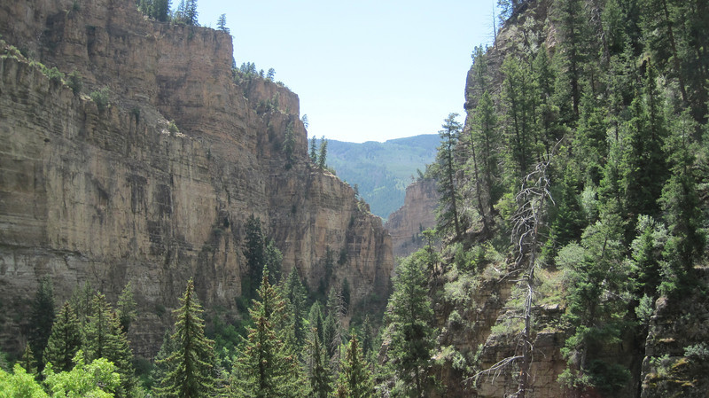 July 11, 2012 (Hanging Lake [on the trail] / Glenwood Springs, Garfield County, Colorado) -- Canyon scenery