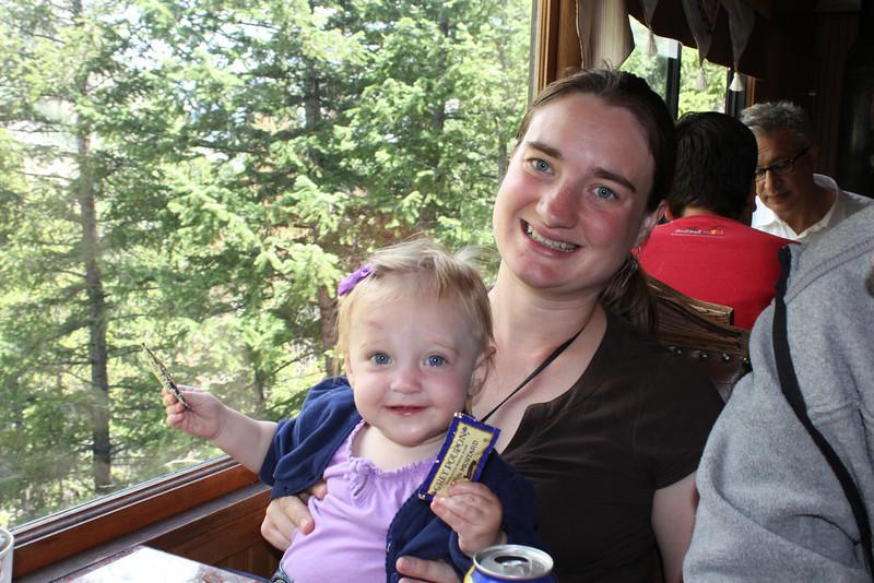 July 10, 2012 (Georgetown Loop Railroad [enroute Georgetown to Silver Plume] / Georgetown, Clear Creek County, Colorado) -- Ada & Katie