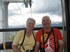 July 8, 2012 (Vail Mountain [inside gondola] / Vail, Eagle County, Colorado) -- Mary Anne & David riding off of Vail Mountain {photo taken by Katie}