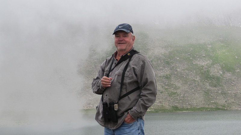 July 9, 2012 (Mount Evans [Summit Lake] / Idaho Springs, Clear Creek County, Colorado) -- David in the clouds