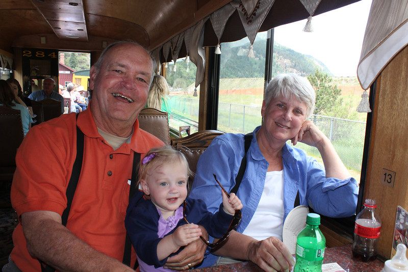 July 10, 2012 (Georgetown Loop Railroad [Silver Plume Station] / Georgetown, Clear Creek County, Colorado) -- David, Ada & Mary Anne
