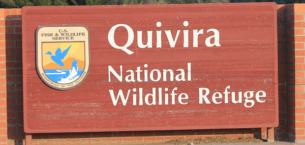 July 6, 2012 (Quivira National Wildlife Refuge [visitor's Center] / Great Bend, Stafford County, Kansas) -- Visitor Center signage