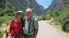 July 11, 2012 (Hanging Lake [at the bottom of the trail] / Glenwood Springs, Garfield County, Colorado) -- Mary Anne & David after an hour hike down [three hours total]