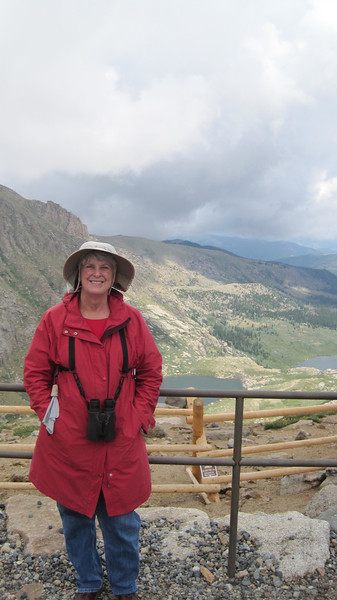 July 9, 2012 (Mount Evans [Summit Lake trail] / Idaho Springs, Clear Creek County, Colorado) -- Mary Anne above the Chicago Lakes