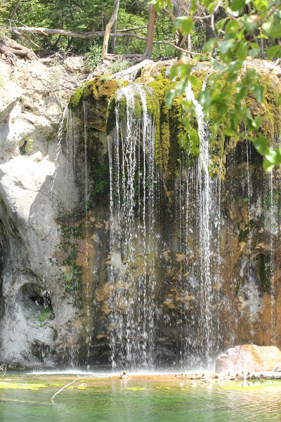 July 11, 2012 (Hanging Lake [at the lake] / Glenwood Springs, Garfield County, Colorado) -- Waterfalls scenery