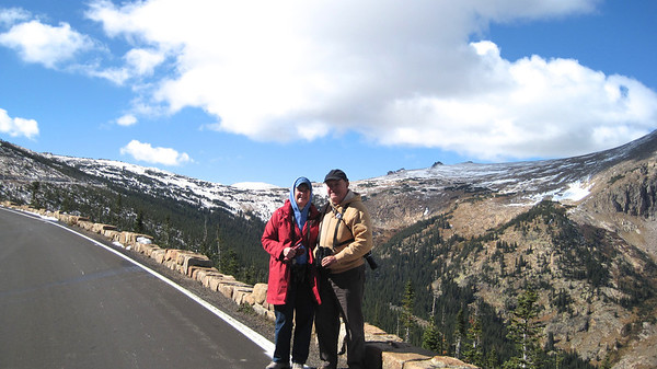 October 11, 2010 - (Rocky Mountain National Park [Rainbow Curve - Trailridge Highway] / Larimer County, Colorado) -- MaryAnne & David walked more than a mile beyond the road closure