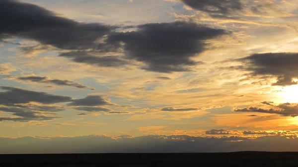 October 9, 2010 - (Pawnee National Grasslands [Murphy's Pasture] / Weld County, Colorado) -- Sunset