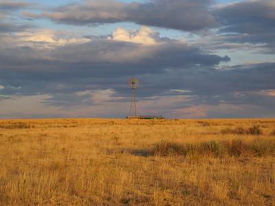October 9, 2010 - (Pawnee National Grasslands [Murphy's Pasture] / Weld County, Colorado) -- Windmill water pump