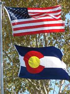 American & Colorado State Flags