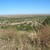 The escarpment south after which begins the endless plain to the Texas hill country.