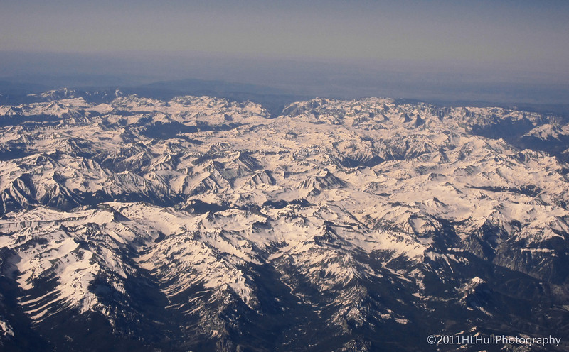 Rocky Mountains, approaching Denver, CO<br /> <br /> View taken during our flight from LAX to Denver International Airport