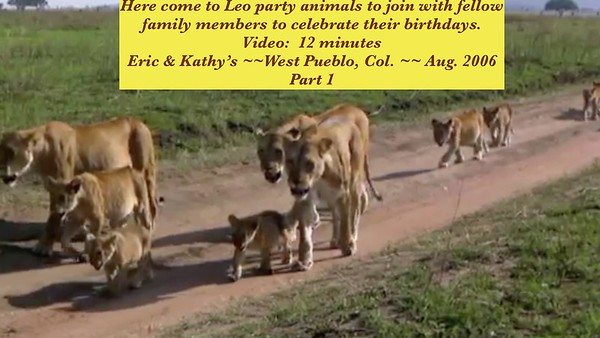 Video:  11  minutes ~~ Eric & Kathy --   Part 1 == Leo birthday type people gather at Leedom's
