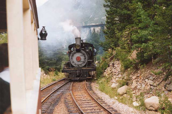Couldn't get back up the mountain so they sent a locomotive to rescue us.