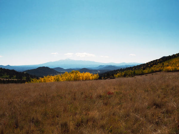 The South Park area of the Rocky Mountains west of Pike's Peak.
