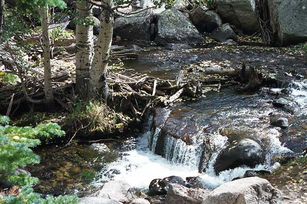 A small water fall in Rocky Mountain National Park.