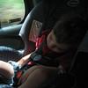 Sleeping baby as we were off roading