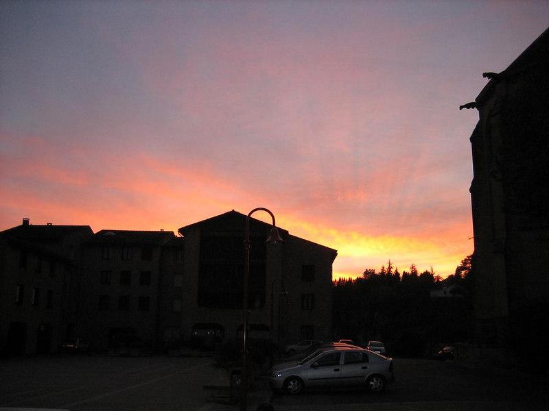 Sunset at Fumel