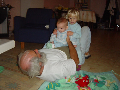 having fun with grandpa