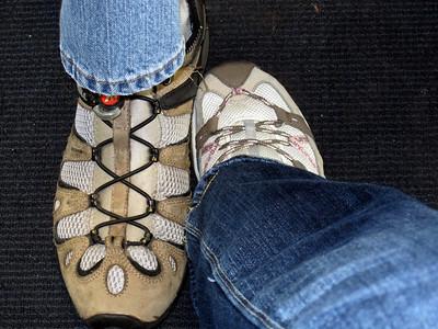 Foot shot at the Houston airport!