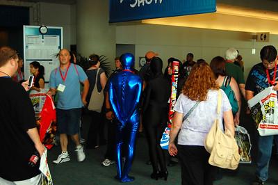 Shiny blue spandex jumper?  I'm in