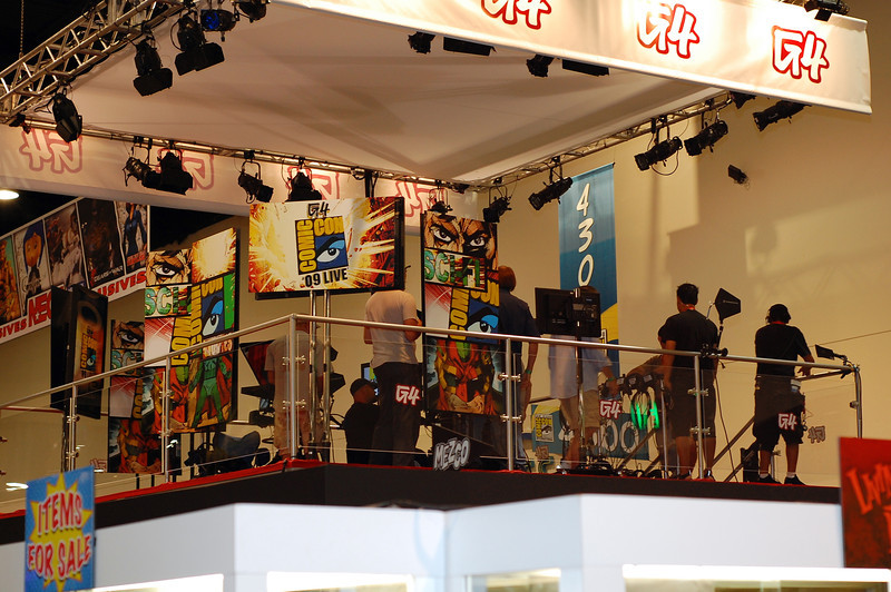 The G4 broadcasting booth