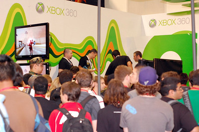The Xbox booth was a little silly in the amount of people who tried to cram in to it at any given moment