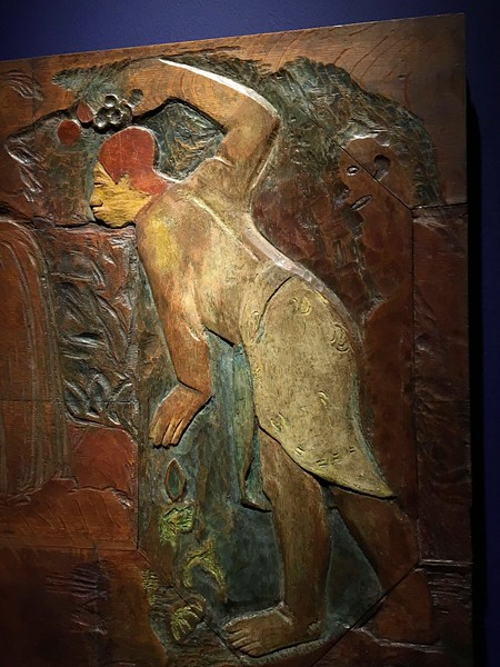 Gaugin wood carving. Very flat, barely relief