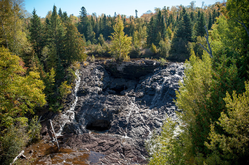 Eagle River Falls near the village of Eagle River.  Not a lot of water this time of the year but I imagine it's really going strong in the Spring melt.
