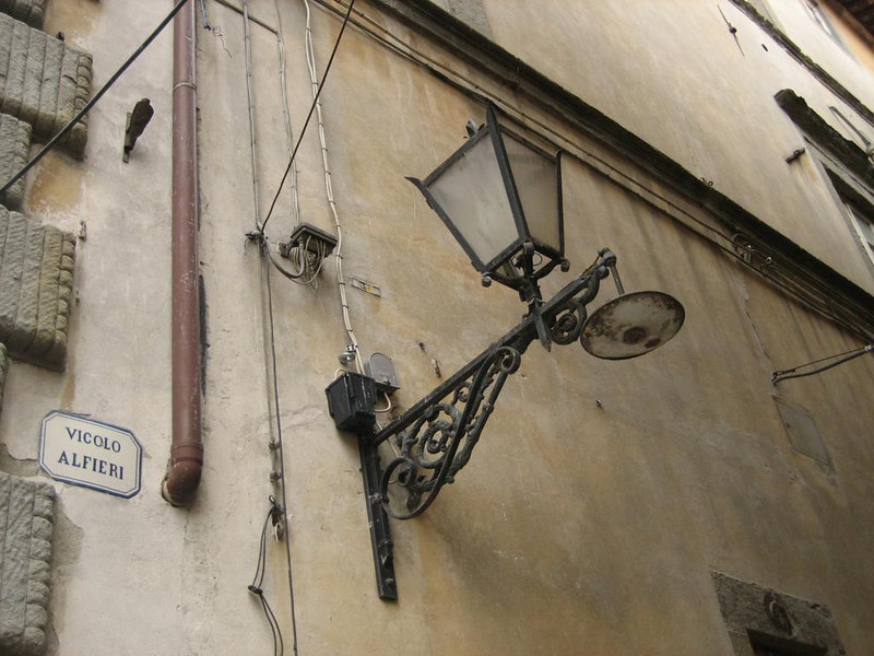 Old iron lamp posts, like you see all over Italy