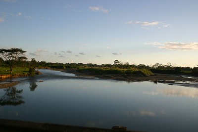 A river mouth at the next stop-Dominical.