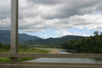 The road out of Dominical was really nice.  Here we cross another river coming out of the mountains.