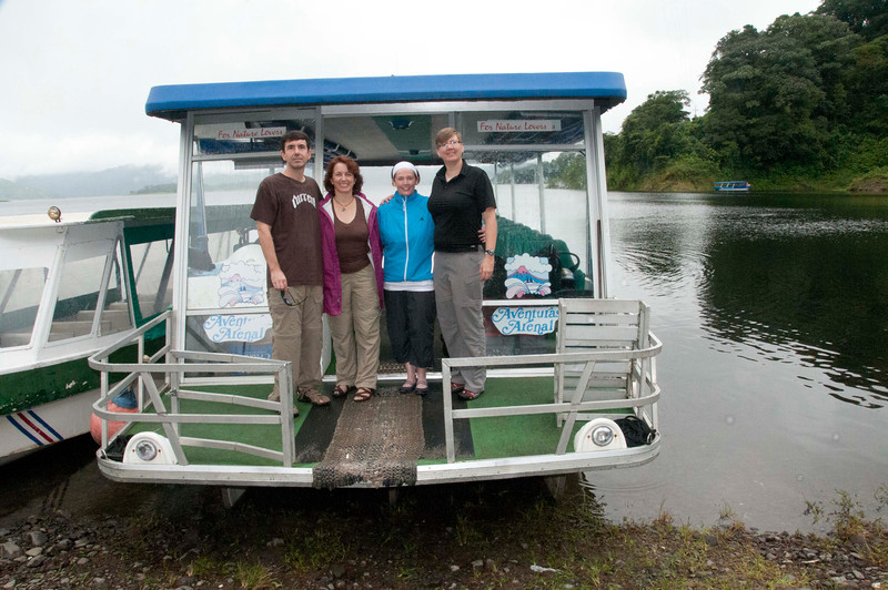 """We had this entire boat to ourselves! <br /> <br /> On the """"road""""  from Arenal to Monte Verde, Costa Rica, 2011. Crossing Lake Arenal and then 4x4's to Monte Verde Lodge."""