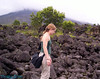 The old lava flow. Me walking on the rocks. Balance is key.