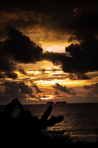 Sunset from Playa Potrero Vacation home.